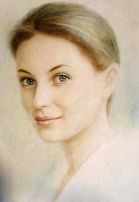 portrait of Russian woman from life.