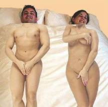 Unloved husband sleeps on the left of wife